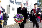 Mayor at cenotaph