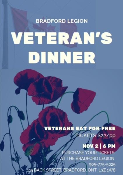2019 Veterans Dinner Poster